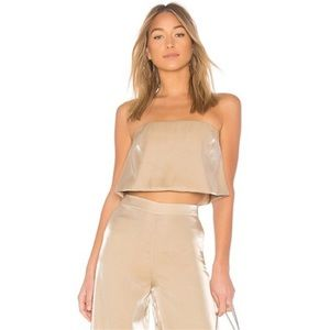 Lovers + Friends Gold Alchemy Cropped Top